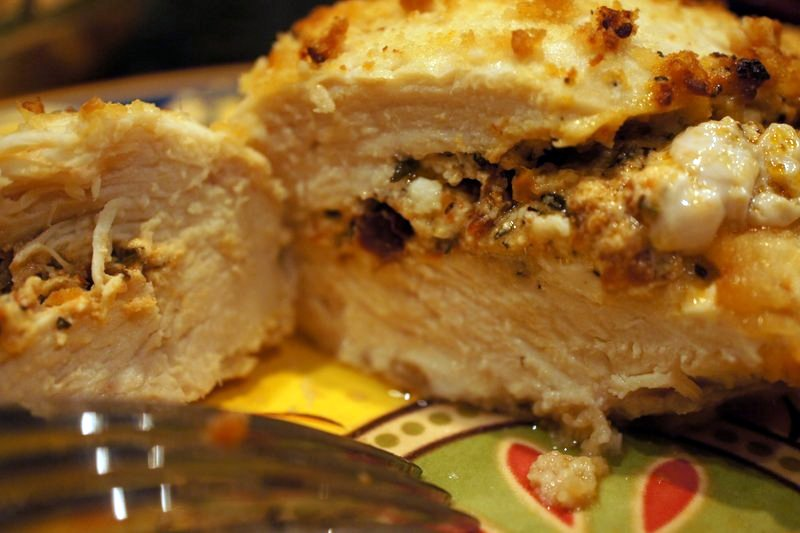 Feta and Sundried Tomato Stuffed Chicken Brea