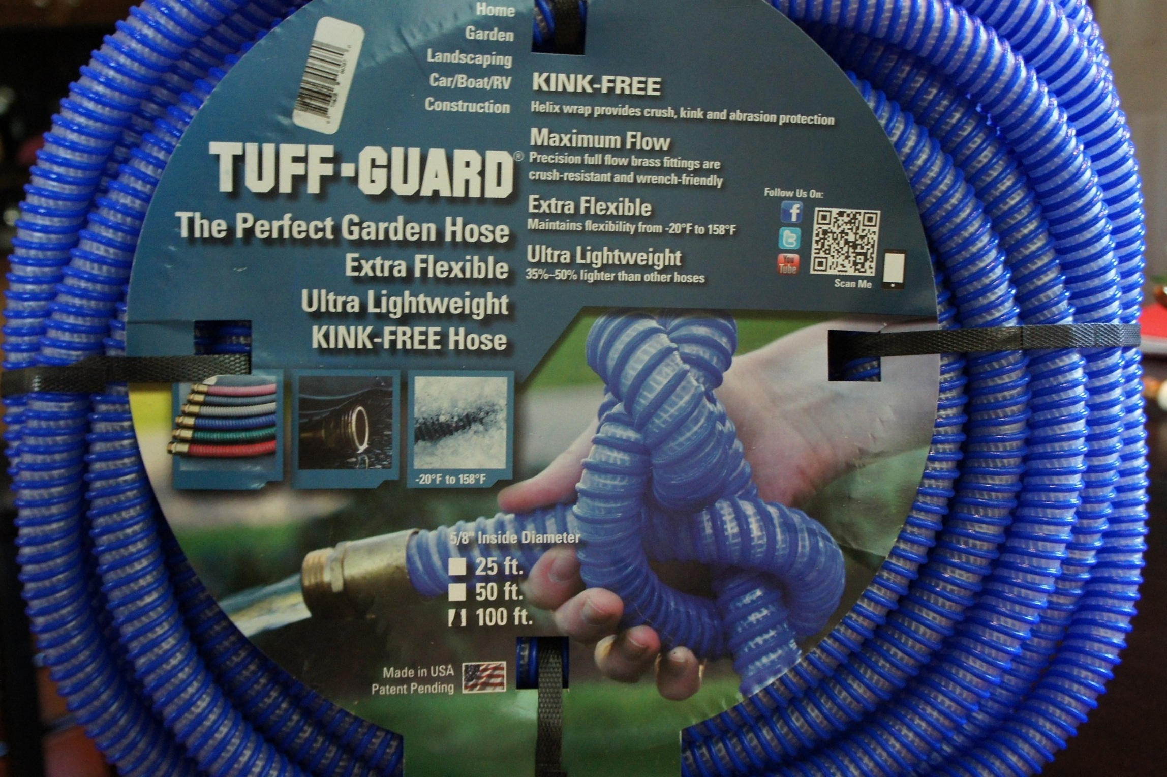 Kink Free Garden Hose By Tuff Guard