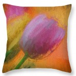 Abstraction Tulip Throw Pillow