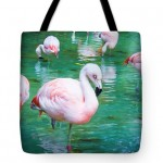 Flock Of Flamingos Tote Bag by T.K. Goforth